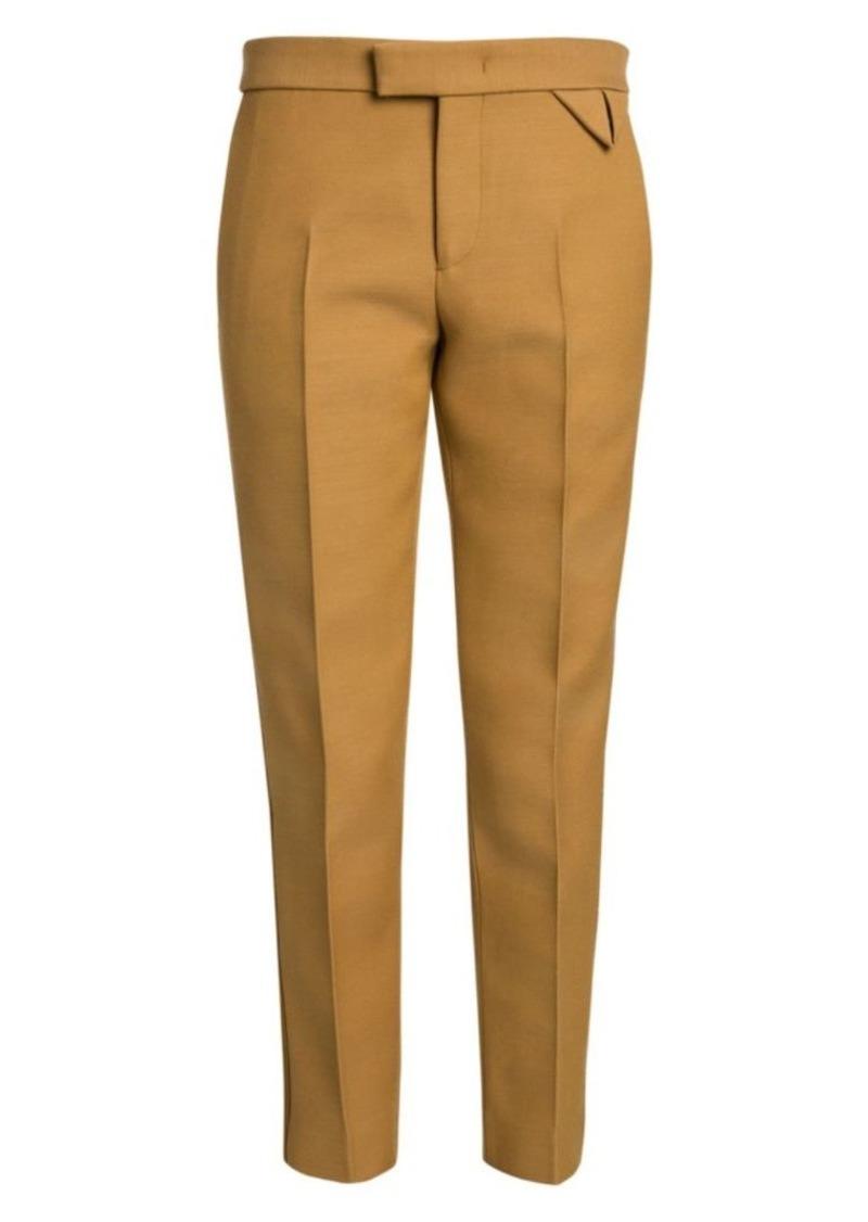 Bottega Veneta Compact Dry Wool-Blend Crop Tuxedo Pants