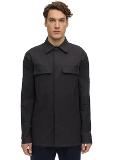 Bottega Veneta Cotton Canvas Shirt Jacket W/ Panels