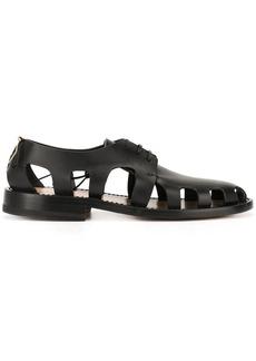 Bottega Veneta cut out detailed lace-up shoes