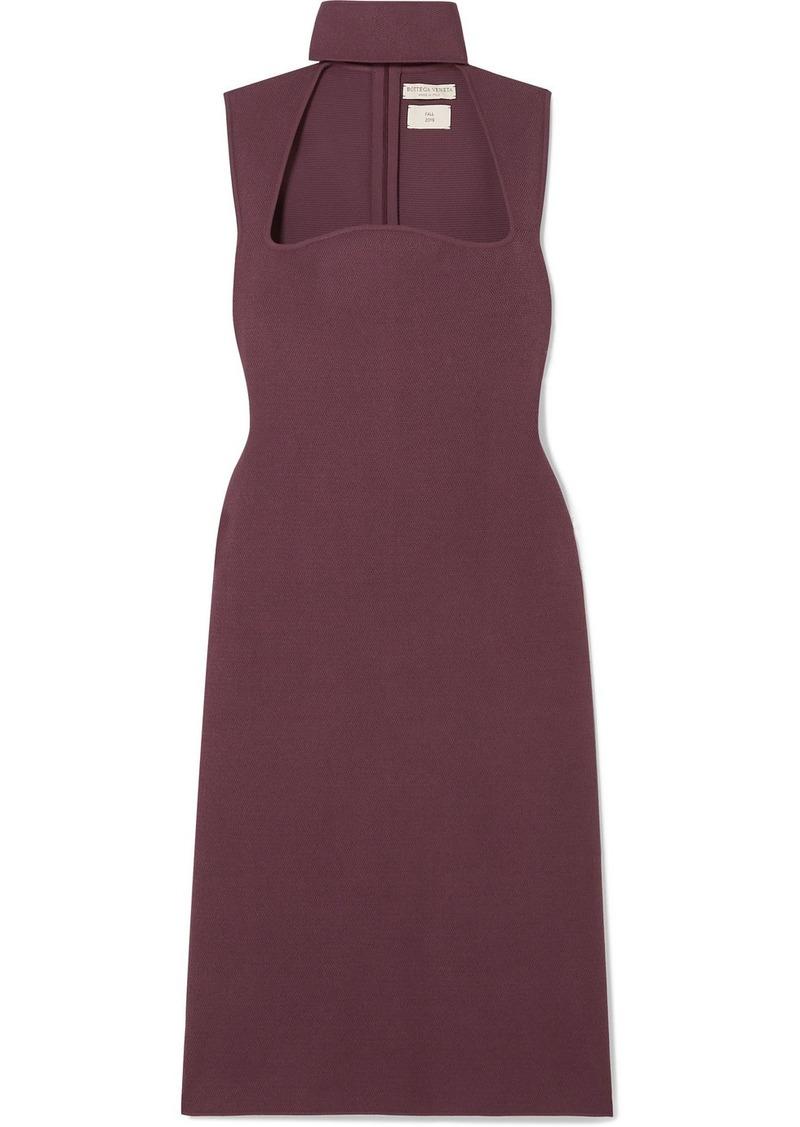 Bottega Veneta Cutout Knitted Turtleneck Dress