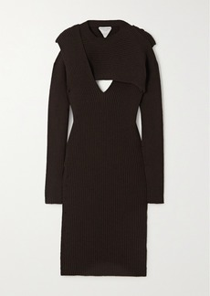 Bottega Veneta Cutout Ribbed-knit Midi Dress