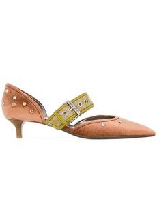 Bottega Veneta dhalia chenille d'orsay kitten heel