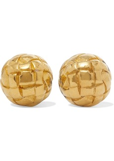 Bottega Veneta Dichotomy Gold-plated Silver Earrings