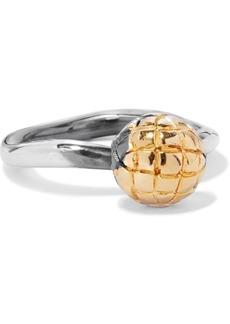 Bottega Veneta Dichotomy Gold-tone And Oxidized Silver Ring