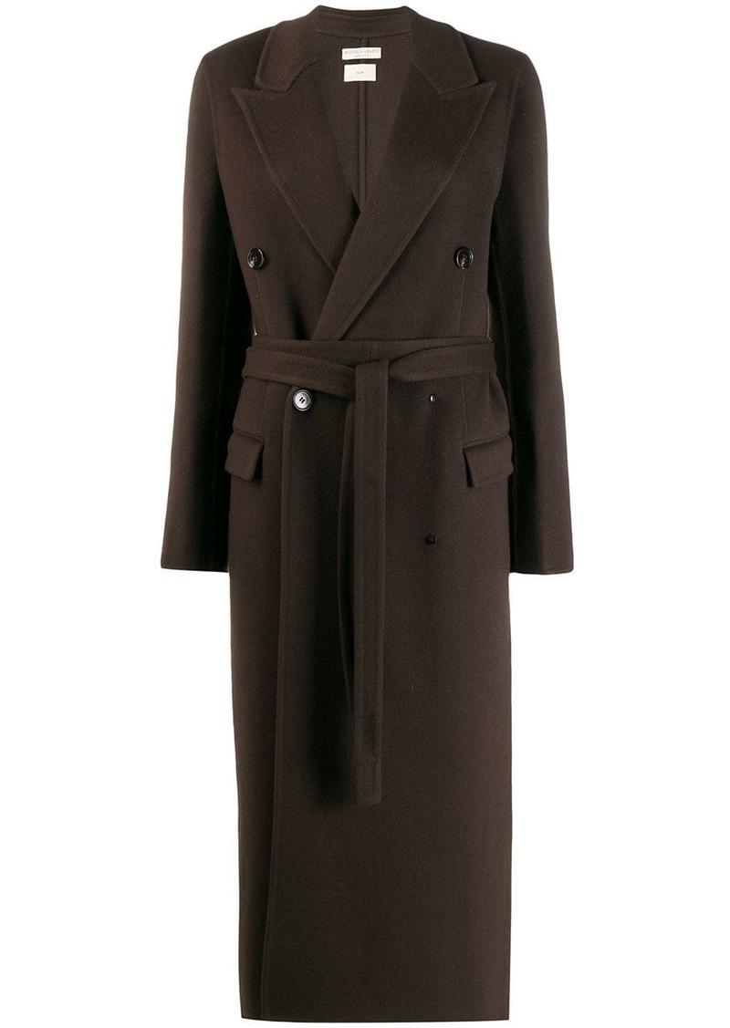Bottega Veneta double breasted belted coat