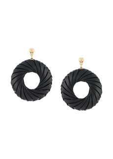 Bottega Veneta doughnut-shaped wrapped earrings
