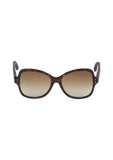 Bottega Veneta Faux Tortoiseshell 56MM Butterfly Sunglasses