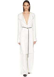 Bottega Veneta Fluid Silk Satin Shirt Dress