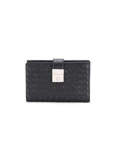 Bottega Veneta foldover lock wallet
