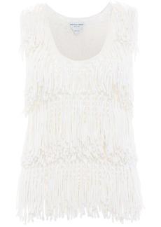 Bottega Veneta Fringed Knit Cotton & Silk Top