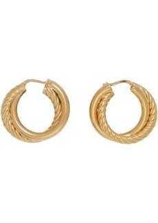 Bottega Veneta Gold Double Hoop Earrings