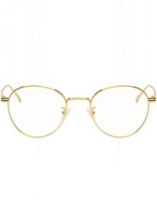 Bottega Veneta Gold Round Glasses