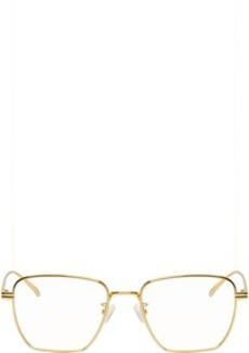 Bottega Veneta Gold Square Glasses