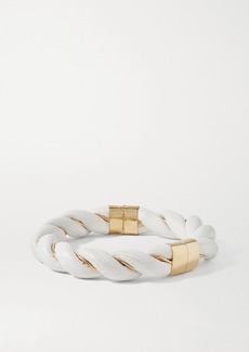 Bottega Veneta Gold-tone And Leather Necklace