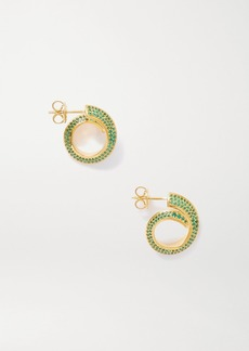 Bottega Veneta Gold-tone Crystal Earrings