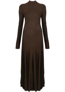 Bottega Veneta high-neck long-sleeve evening dress