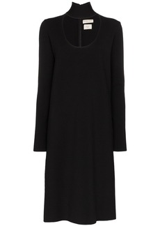 Bottega Veneta high-neck midi dress