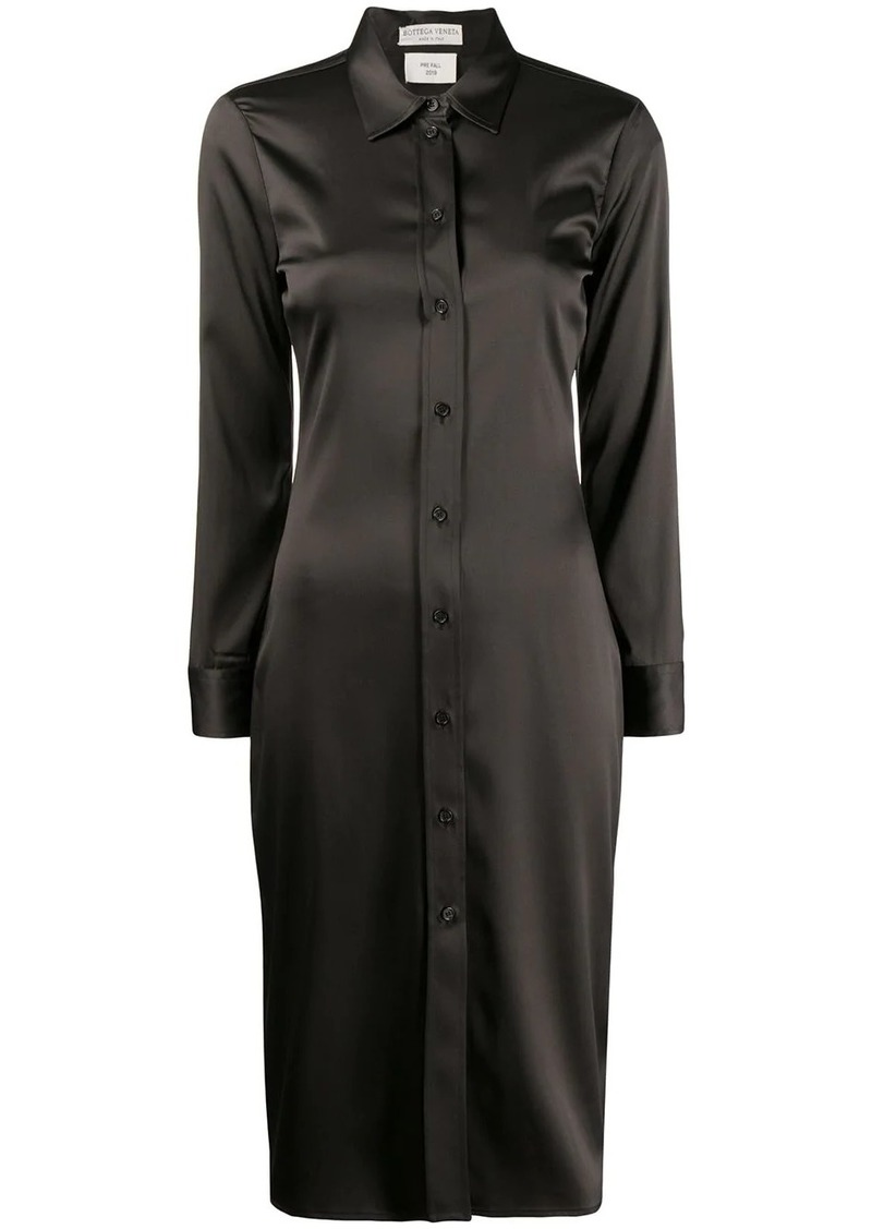 Bottega Veneta high shine shirt dress
