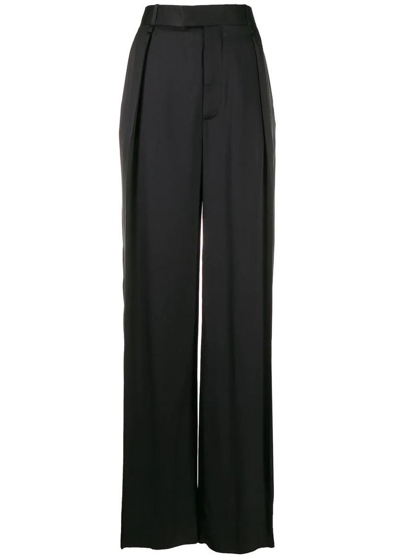 Bottega Veneta high waisted silk trousers