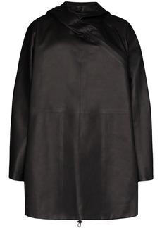 Bottega Veneta hooded shift parka coat