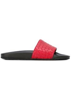 Bottega Veneta interlaced leather flip flops