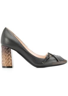 Bottega Veneta intrecciato block heel pumps