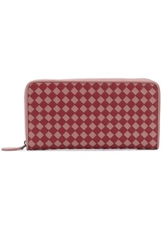 Bottega Veneta Intrecciato Checker zip-around wallet