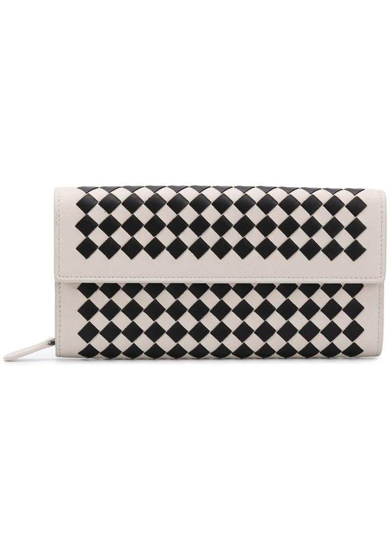Bottega Veneta Intrecciato Chequer continental wallet