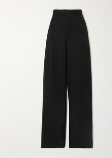 Bottega Veneta Intrecciato Grain De Poudre Wool Wide-leg Pants