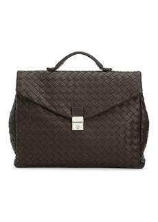 Bottega Veneta Intrecciato Leather Portfolio Briefcase