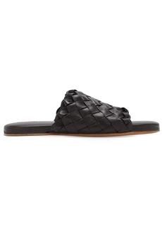 Bottega Veneta Intrecciato Leather Slide Sandals