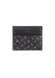 Bottega Veneta Intrecciato Microdots Leather Card Case