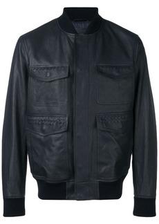 Bottega Veneta Intrecciato panel bomber jacket