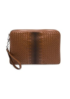 Bottega Veneta Intrecciato Woven Leather Studded Document Holder