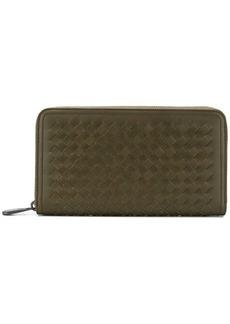 Bottega Veneta Intrecciato zip around wallet