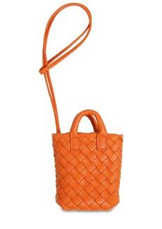 Bottega Veneta Intreccio Leather Mini Tote Bag