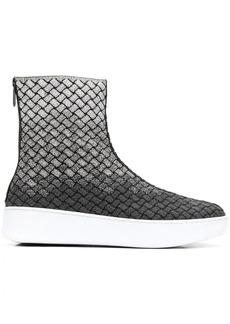 Bottega Veneta Intreciatto panel boots