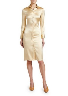 Bottega Veneta Knee-Length Satin Shirtdress