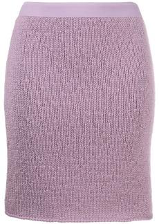 Bottega Veneta knitted cashmere skirt
