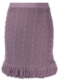 Bottega Veneta knitted mini skirt