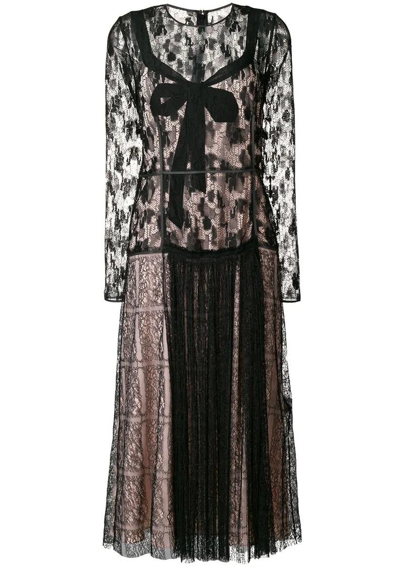 Bottega Veneta lace midi dress