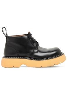 Bottega Veneta Lace-up Leather Ankle  Boots