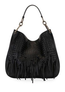 Bottega Veneta Large Loop Fringe Intrecciato Leather Hobo Bag
