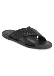 Bottega Veneta Leather Cross Sandals