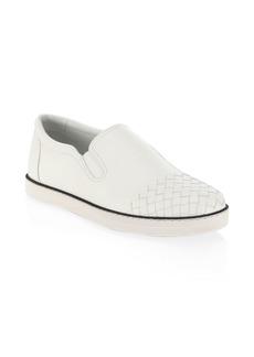 Bottega Veneta Leather Slip-On Sneakers