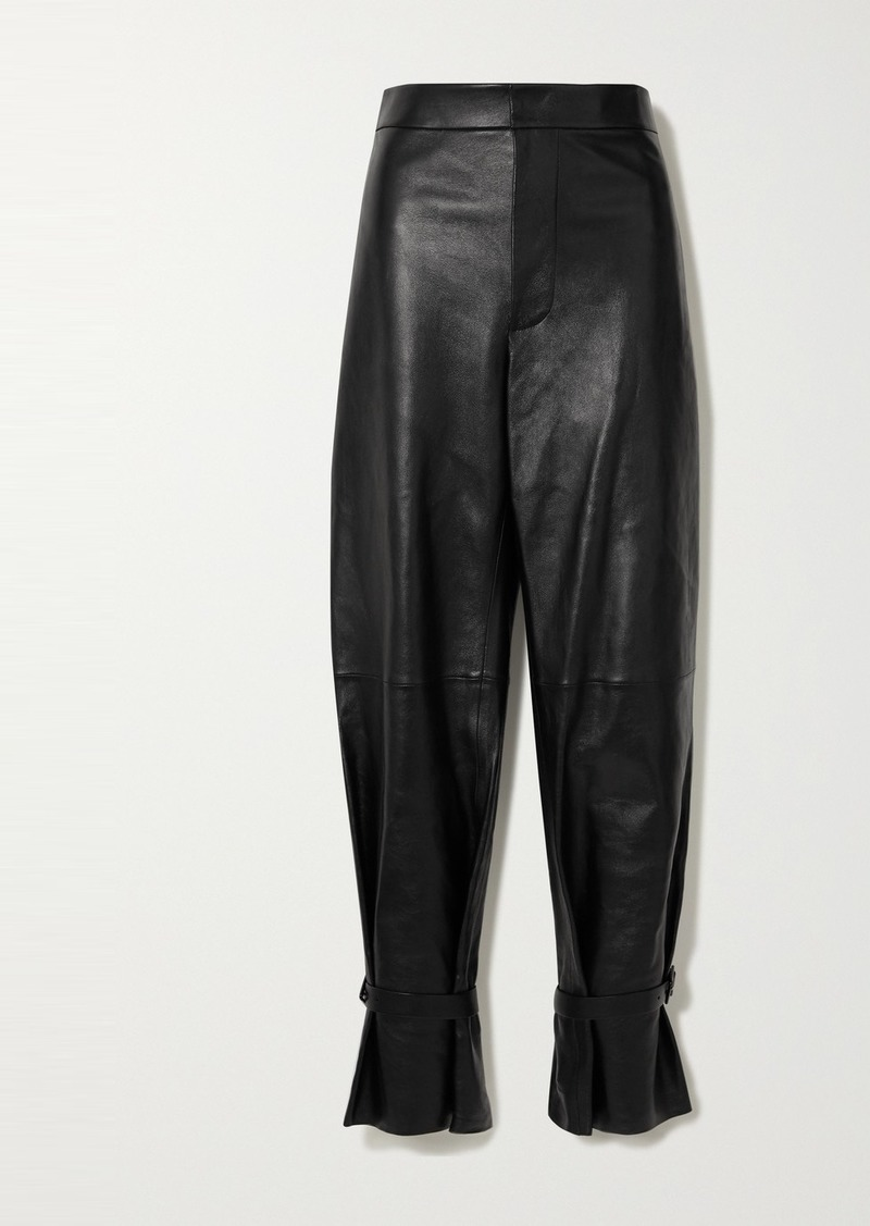 Bottega Veneta Leather Straight-leg Pants
