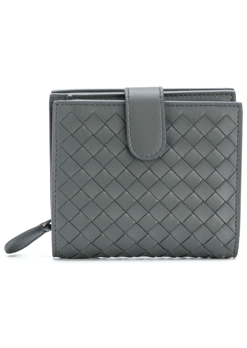 Bottega Veneta light gray Intrecciato nappa mini wallet