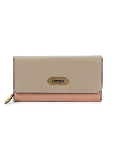 Bottega Veneta Limestone Colorblock Leather Continental Wallet