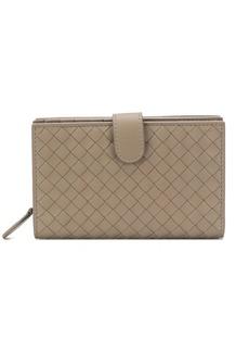 Bottega Veneta intrecciato weave French wallet