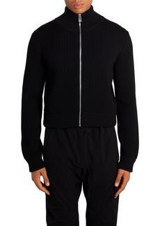 Men's Bottega Veneta Rib Zip Wool Cardigan